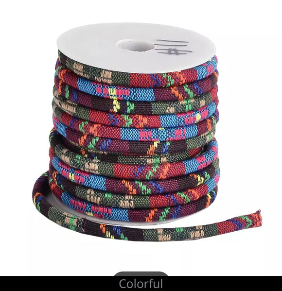 Ethnic Print Polyester Cord - AU