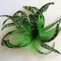 Lime Green Feather Mount (0436) - US - B Unique Millinery