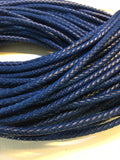 5mm Round Braided Leather Cord - AU