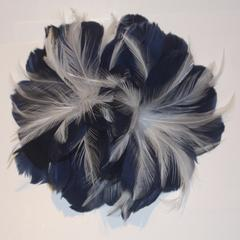 Double Feather Flower (F1418) - US - B Unique Millinery