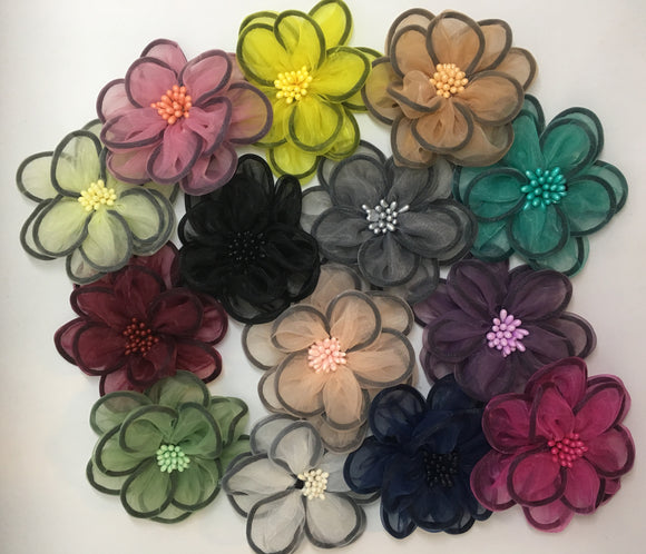 Organza Flowers - AU - B Unique Millinery