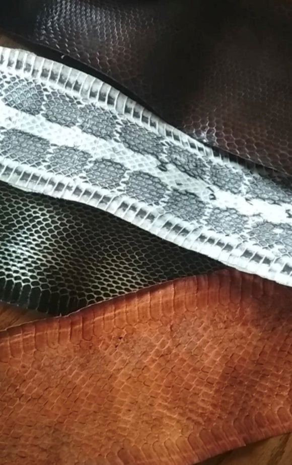 Natural Snake Skin Leather - AU