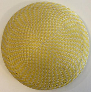 2 Tone Checked - Buntal 16cm Round Bases - AU - B Unique Millinery