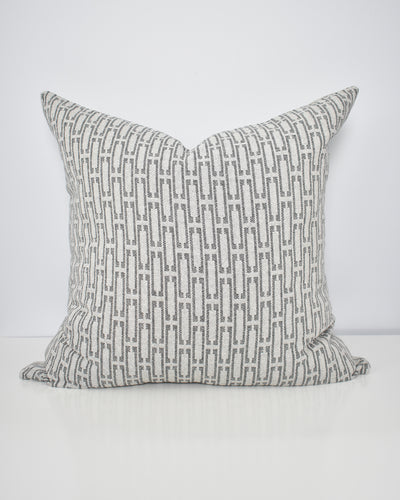 Grey Links Washable Pillow Cover