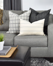 Load image into Gallery viewer, Grey Windowpane Washable Pillow Cover