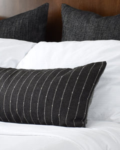 [Pre-Order] Stanton Charcoal Long Lumbar Pillow Cover