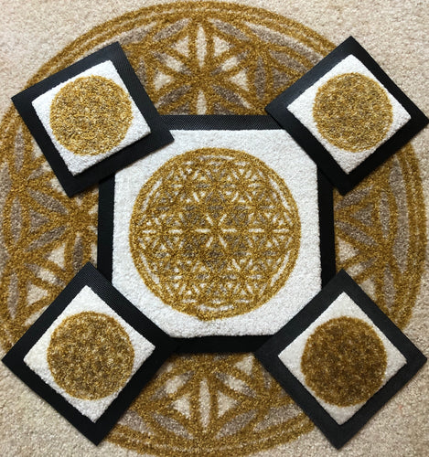 Carpet Center of Love 15x15 cm - Power spots - Feng shui product - Made in Switzerland