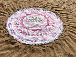 Mandala Towel for Yoga & Leisure - Mandala Beach Towel - Mandala Bed Cover - Mandala Wall Picture - 180cm