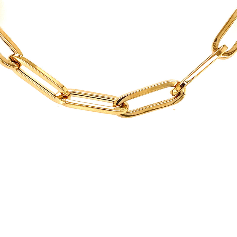 14kt Yellow Gold Paperclip Bracelet