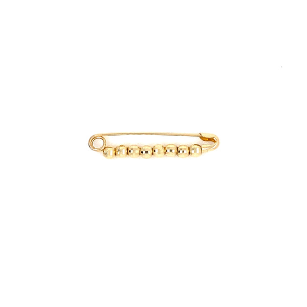 14kt Yellow Gold Pin with Balls