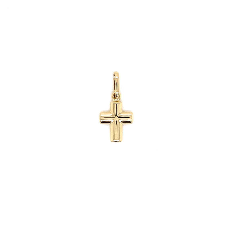 "14kt Yellow Gold Curve Cross 10""x15"""