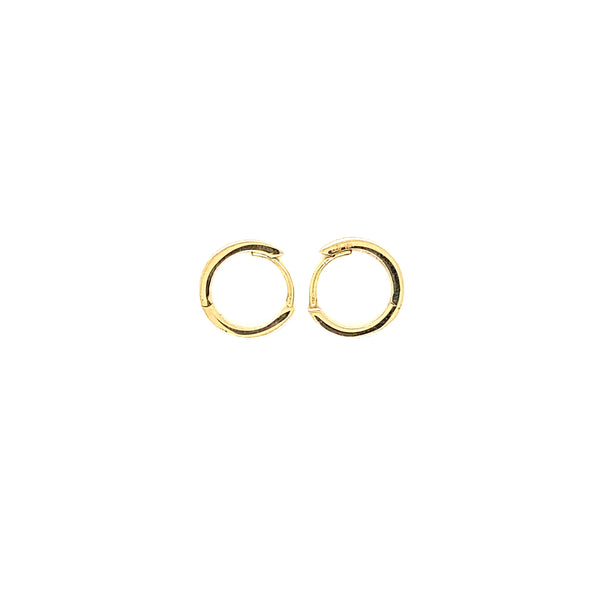 18Kt Yellow Gold Hoops with Zirconia