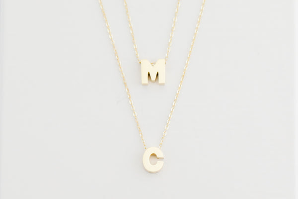 14kt Yellow Gold Initials from A-Z