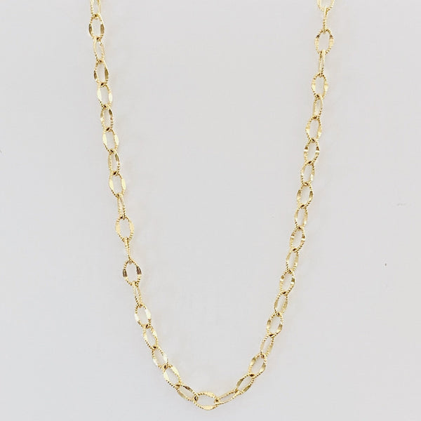 14Kt Solid Gold Cord Necklace