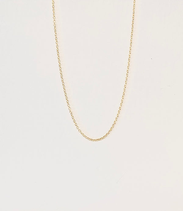 "14Kt Yellow Gold Chain 16"" long. Classic Cord"