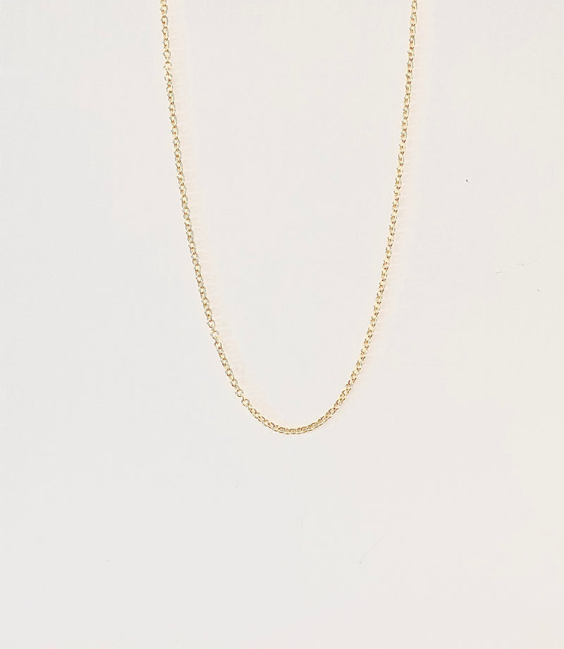 "18Kt Yellow Gold Chain 16"" long. Classic Cord"