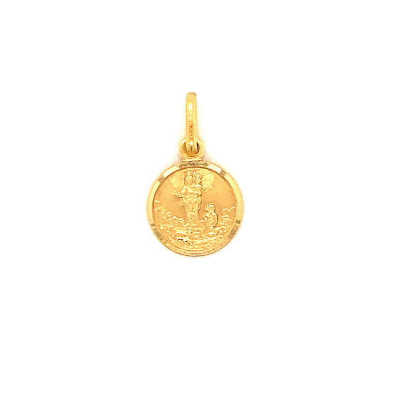 14kt Yellow Gold Our Lady of Maria Auxiliadora 11mm