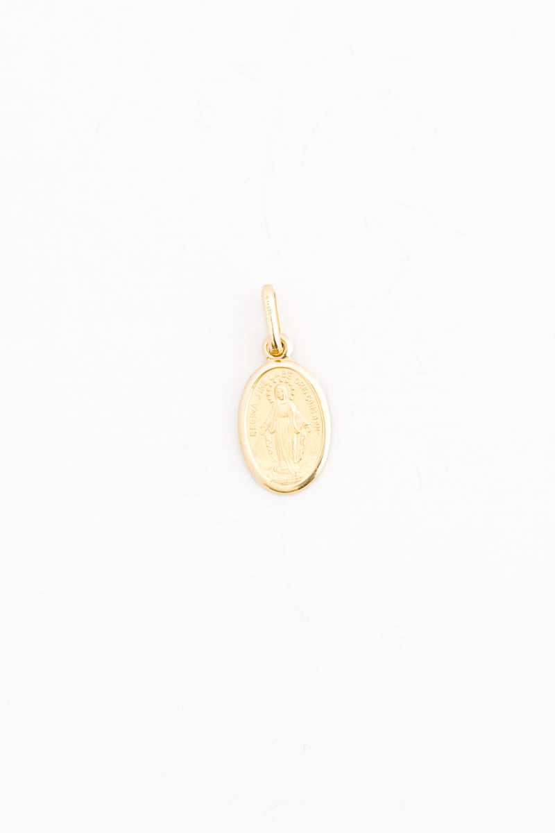 18kt Solid Gold Our Lady of the Miraculous Medal