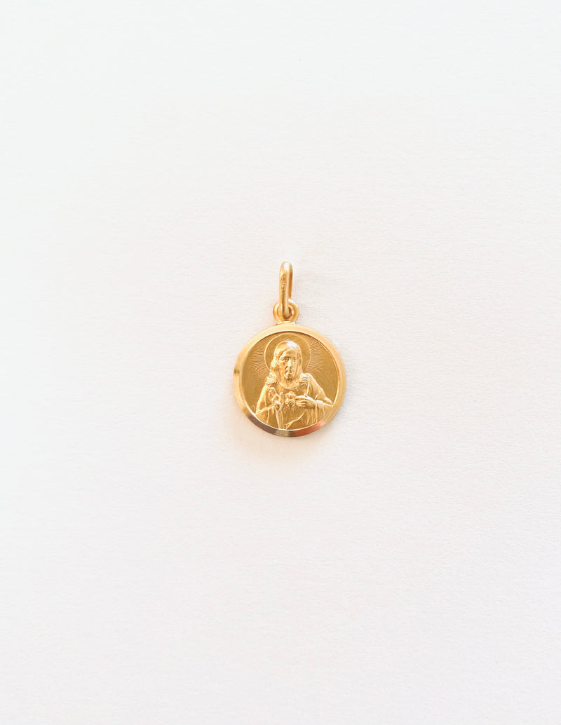 18Kt Yellow Gold Scapular Medal 15mm.