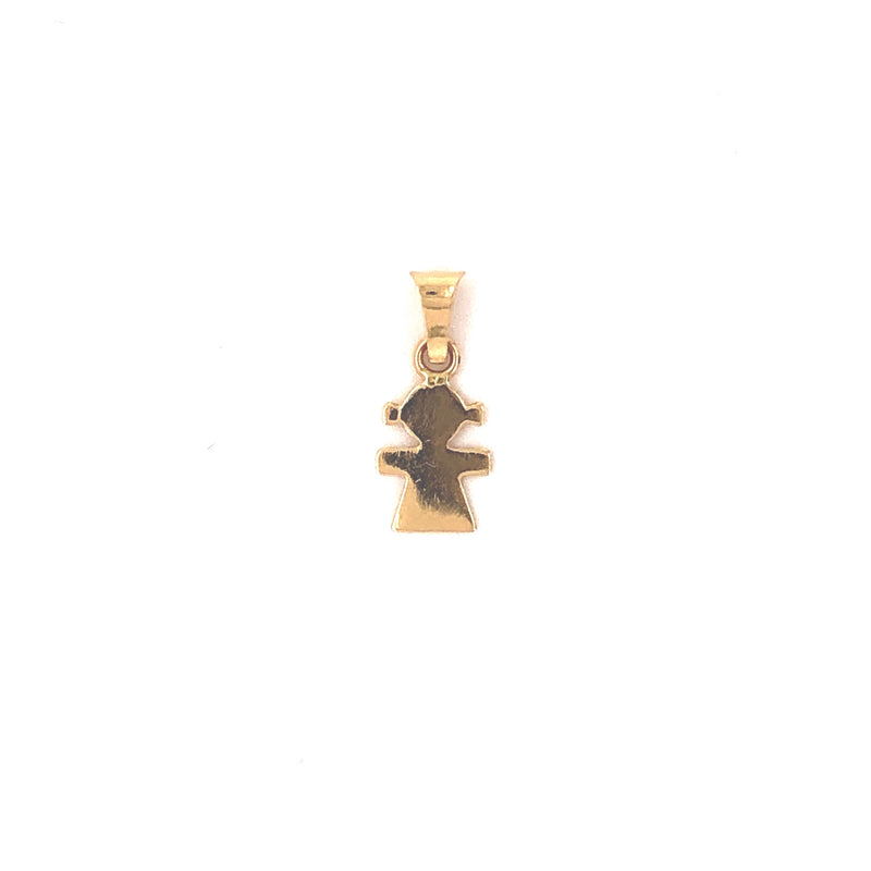 18kt Solid Gold Girl Charm