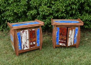 Blue Splash Sidetables.