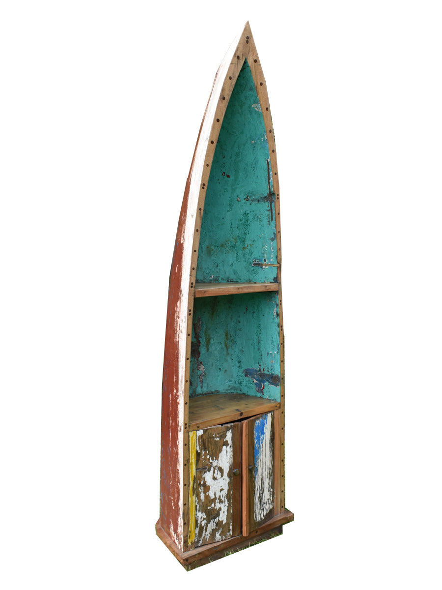 Totally Rustic Large Boat Hull Shelving Unit.