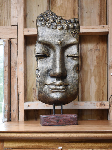 Mask Buddha Stand Gold/Black