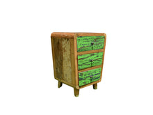 Load image into Gallery viewer, Character Lime Green Bedside Table.