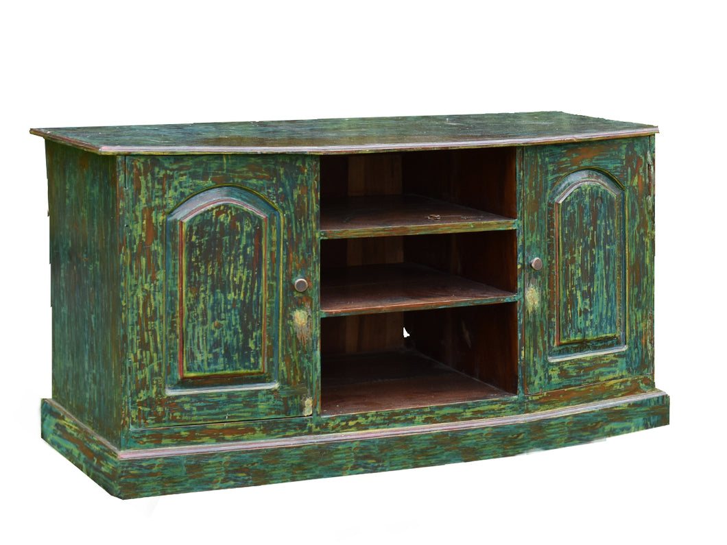 Stunningly Unique Forest Green Sideboard.