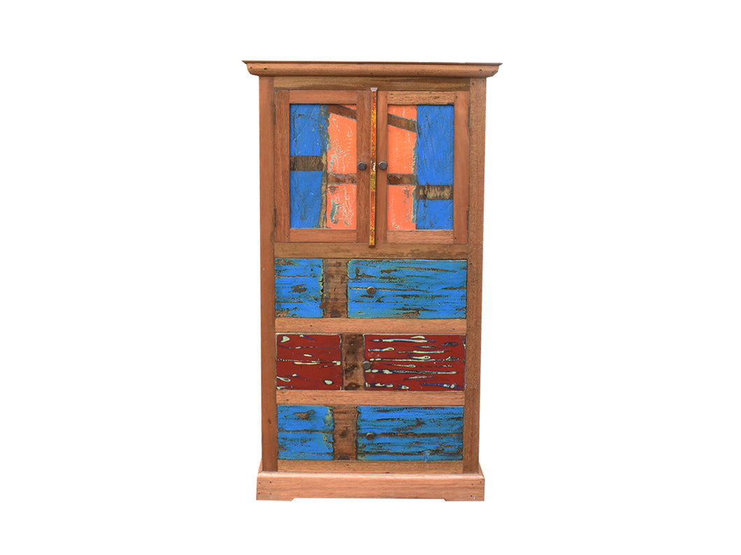 Orange And Blue Cabinet.