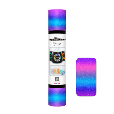Holographic Glass Flower Adhesive Vinyl Roll
