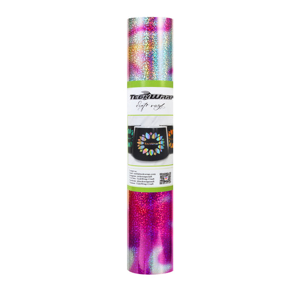 NEW Holographic Pattern Adhesive Vinyl Roll