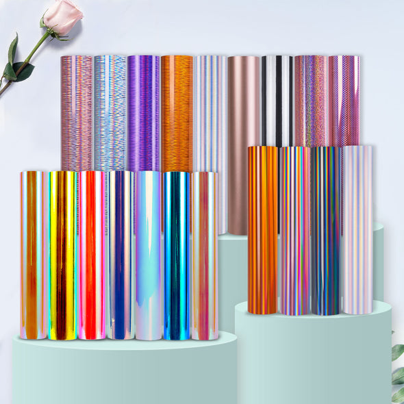 TECKWRAP Holographic Chrome Craft Vinyl 20 Rolls Mix-ups