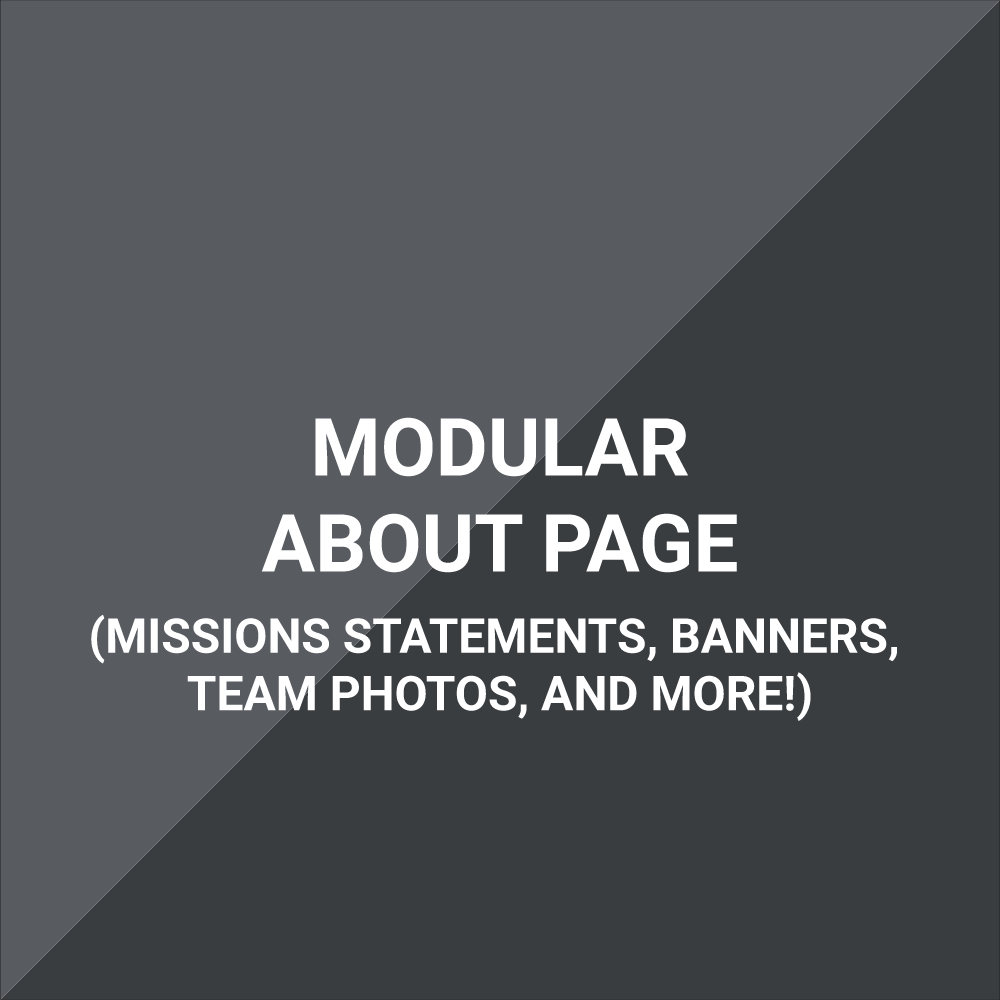 Extension - About Us Page - Modular, Multi-Section Support