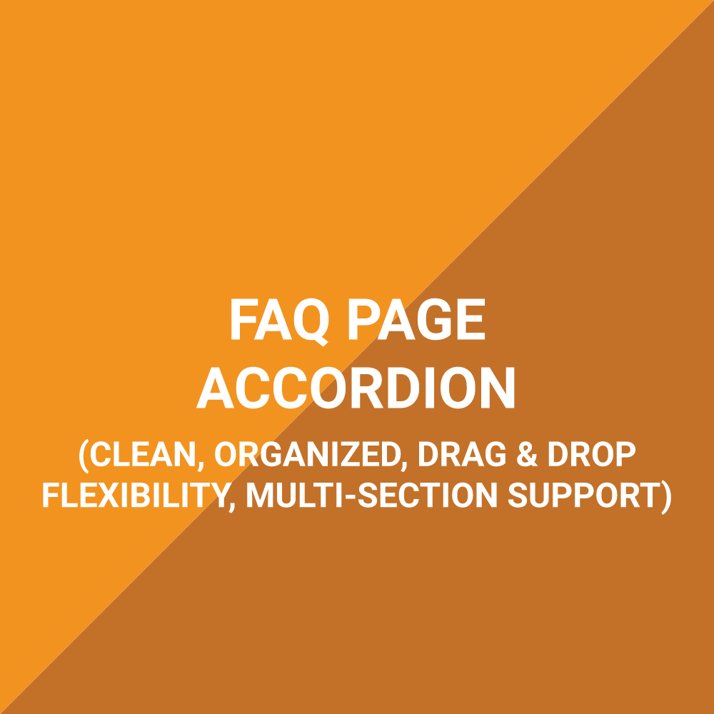 Extension - FAQs Accordion With Multi-Section Support