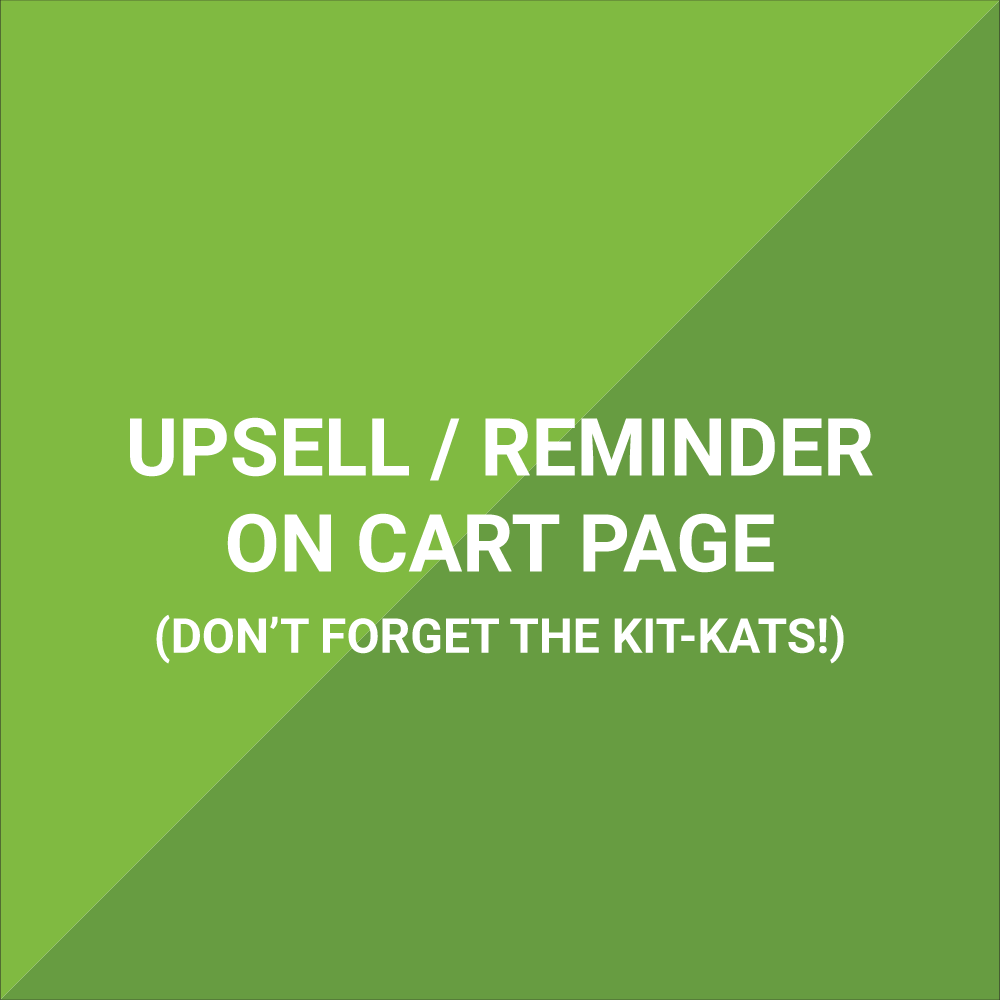 Extension - Upsell / Reminder On Cart Page