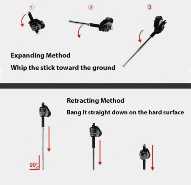 Self-Defense Telescopic Swing Stick