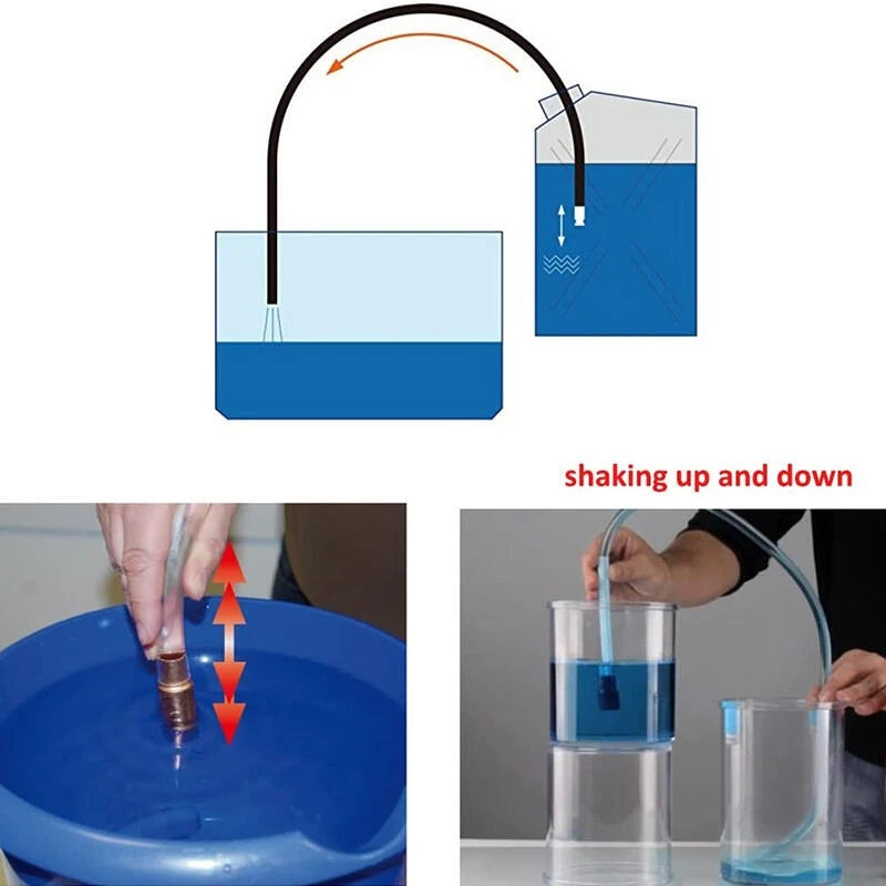 Self-Priming Portable Siphon Pump