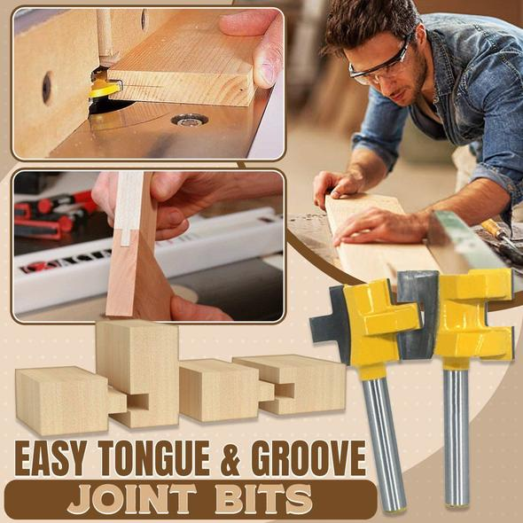 Easy Tongue Groove Joint Bits (2pcs/Set)