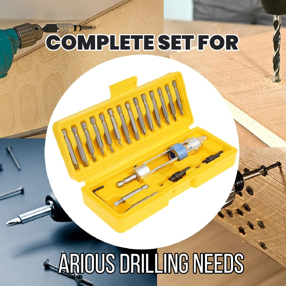 20 Pieces Drill Screwdriver Set High-speed Alloy Steel