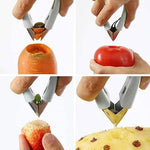 Multi-function Fruit Vegetable Seeds Pineapple Core Extraction Tool Strawberry Huller