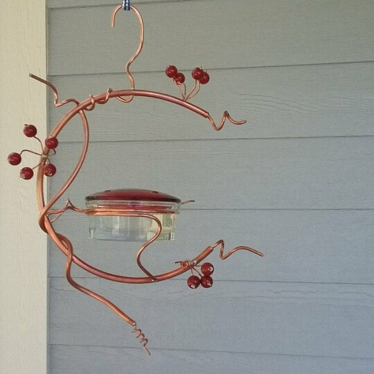 Red Berries Hummingbird Feeder
