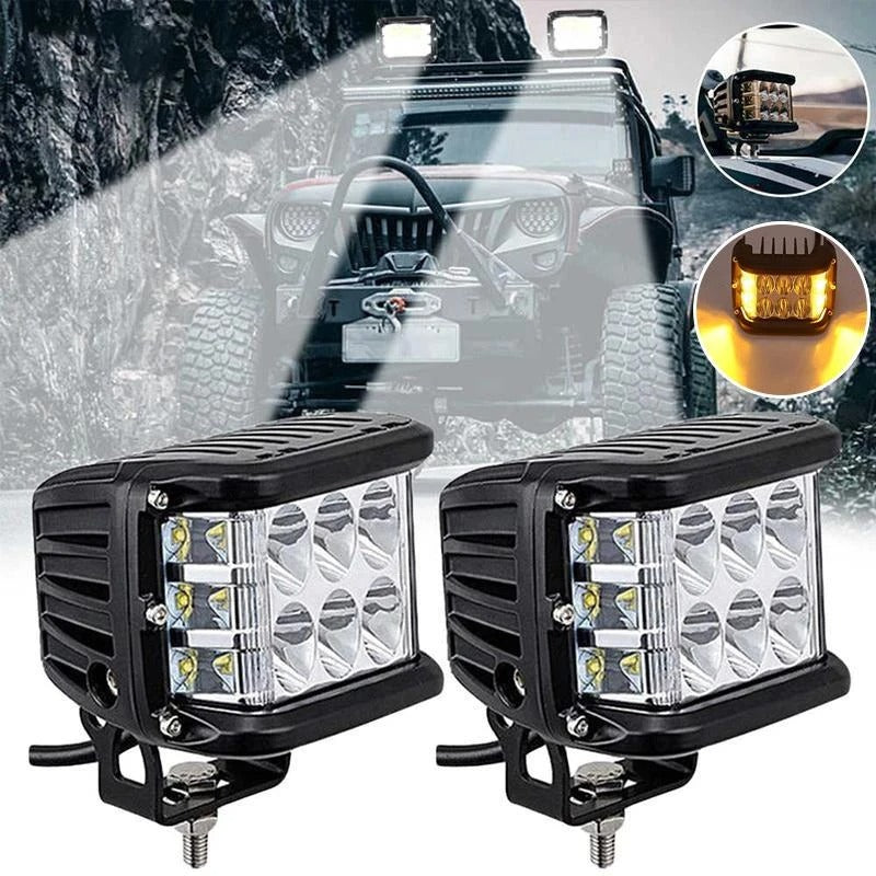 Dual Side Shooter Dual Color Strobe Cree Pods