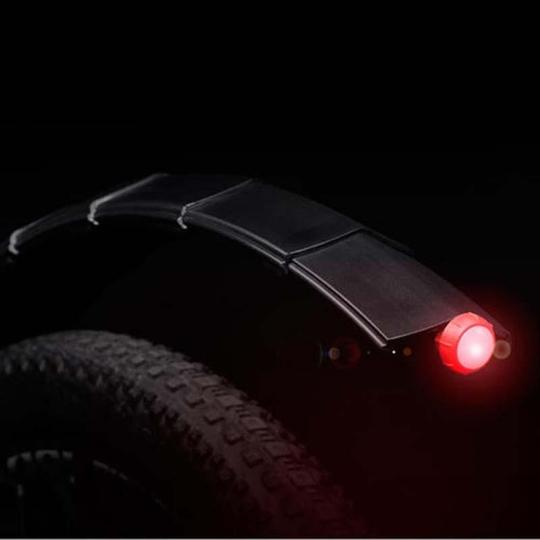 Bicycle Retractable Mudguard - Black rear / Front Mudguard With Tail Light