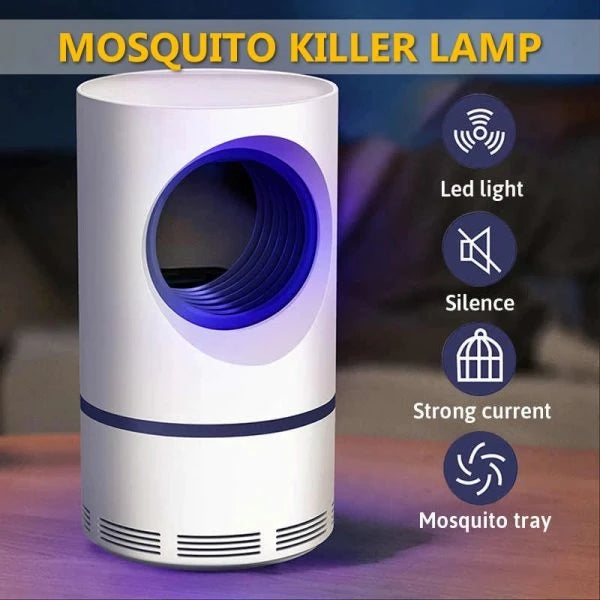 Mosquito And Flies Killer Trap - Suction Fan, No Zapper, Child Safe