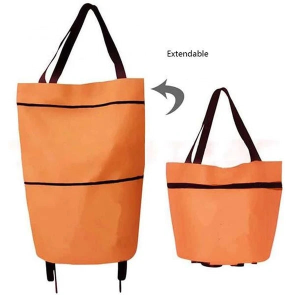 Foldable Waterproof Shopping Trolley Tote Bag