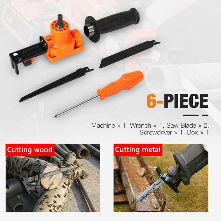 6-Piece Electric Drill Reciprocating Saw Set