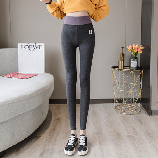 Winter Warm Women Velvet Elastic Leggings Pants Fleece Linen Thick Tights