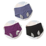 3PCS Comfortable Air Permeability Leakproof Underwear