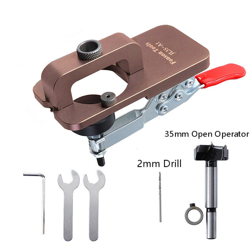 35mm Hole Opener Hinge Hole Drill Door ToolsTemplate